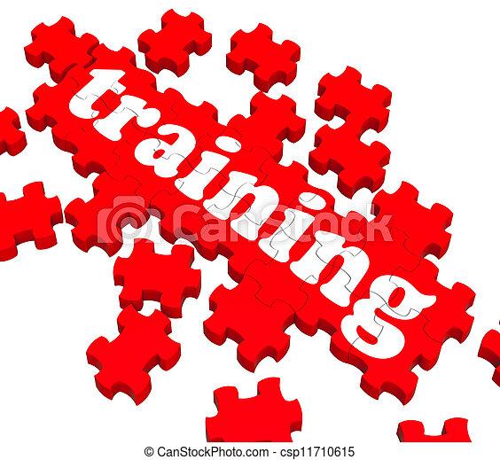 formation, puzzle, projection, entraînement, business - csp11710615