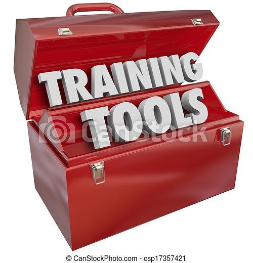 formation, reussite, techniques, apprentissage, nouveau, boîte outils, outils, rouges - csp17357421