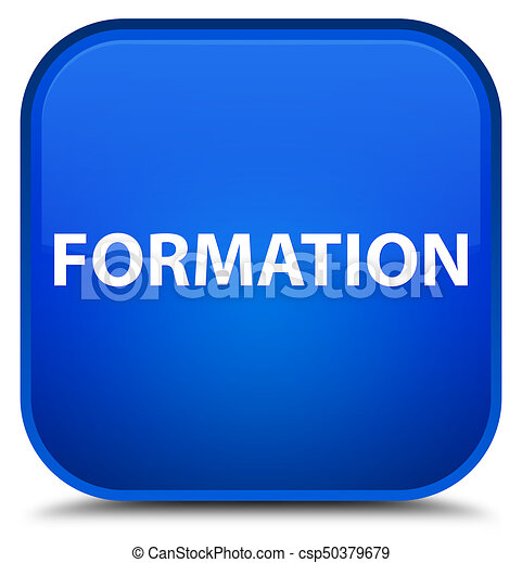 Formation special blue square button - csp50379679