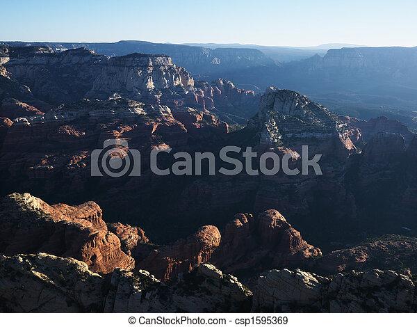 Formaciones de roca de Arizona. - csp1595369