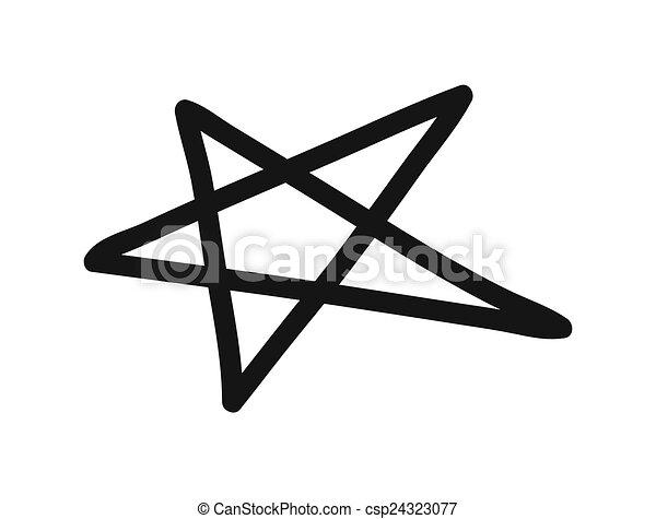 forme, étoile, clipart - csp24323077