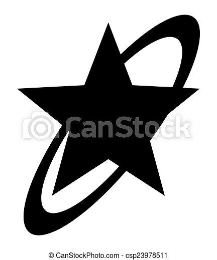 forme, étoile, retro - csp23978511