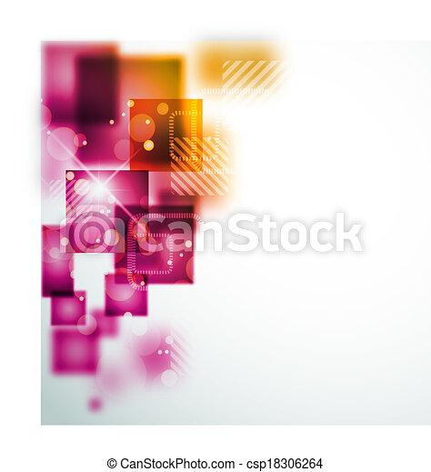 forme, astratto, quadrato, fondo - csp18306264