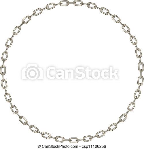 forme, cercle, chaîne, argent - csp11106256