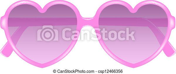 27597ef834 Forme coeur, lunettes, soleil. Rose, coeur, soleil, forme ...
