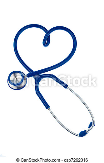 forme coeur, stéthoscope - csp7262016