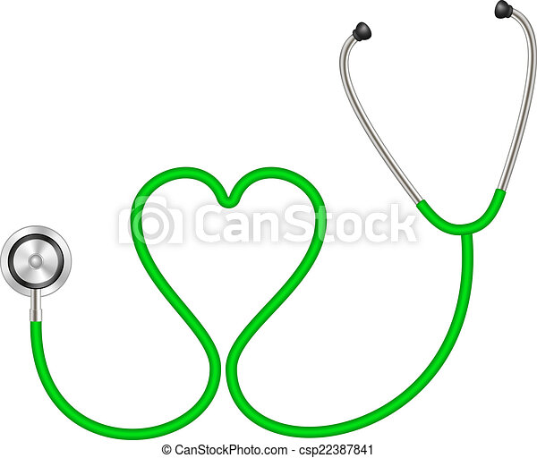forme coeur, stéthoscope - csp22387841