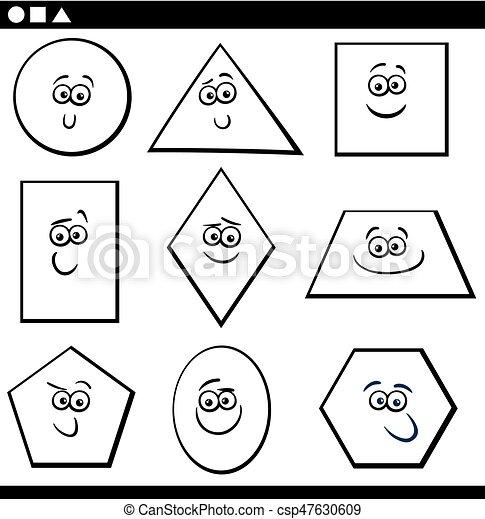 forme, geometrico, coloritura, fondamentale - csp47630609