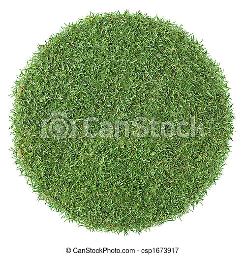 forme, herbe, rond - csp1673917