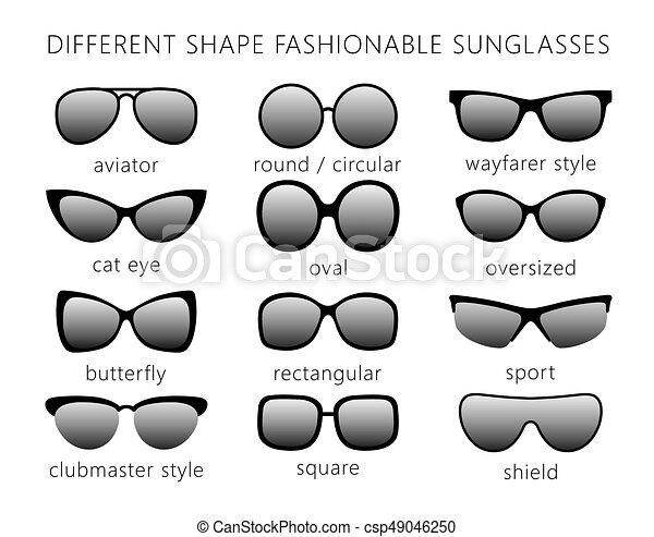 f80cdc5d6d Forme, lunettes soleil, monochrome.eps. Formes, tout, oeil ...