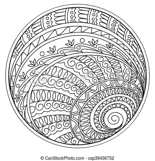 Formen, kreis, geometrisch, mandalas. Keramik, 10, färbende ...
