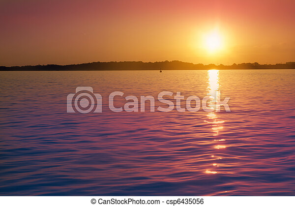 Formentera balearic island sunrise sea Illetas Balearic - csp6435056