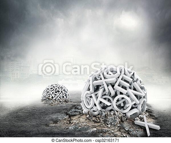 former, aléatoire, lettres, sphère - csp32163171