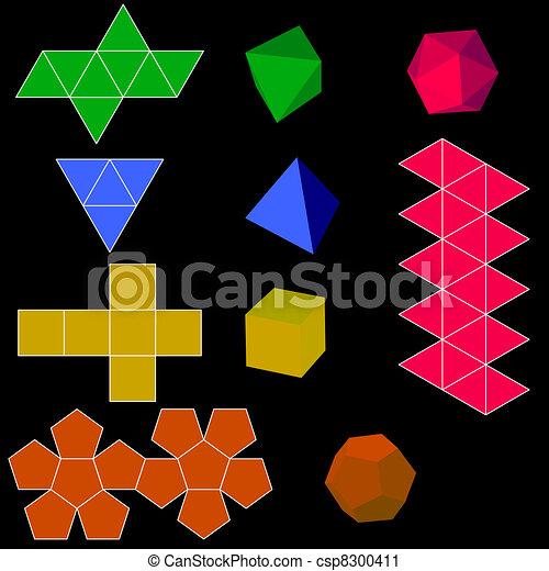 Extrem Clipart Vecteur de formes, colorfull, géométrique, vecteur, 3d  IN86