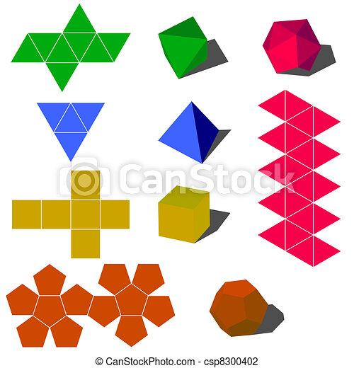 Formes Colorfull Geometrique Vecteur 3d