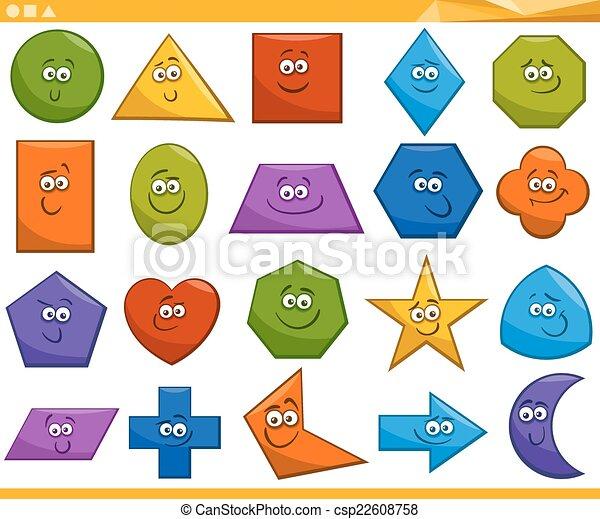formes, géométrique, dessin animé, fondamental - csp22608758