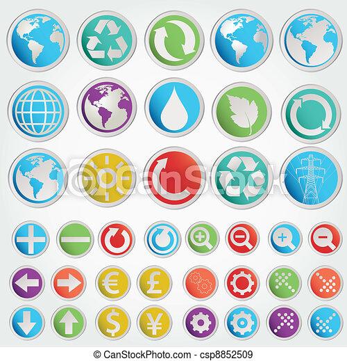 formes, symboles, ensemble, vecteur, divers - csp8852509