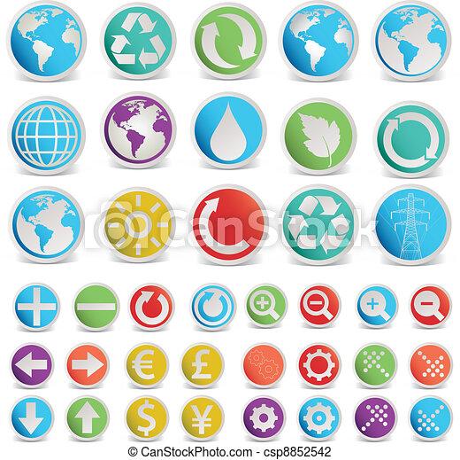 formes, symboles, ensemble, vecteur, divers - csp8852542