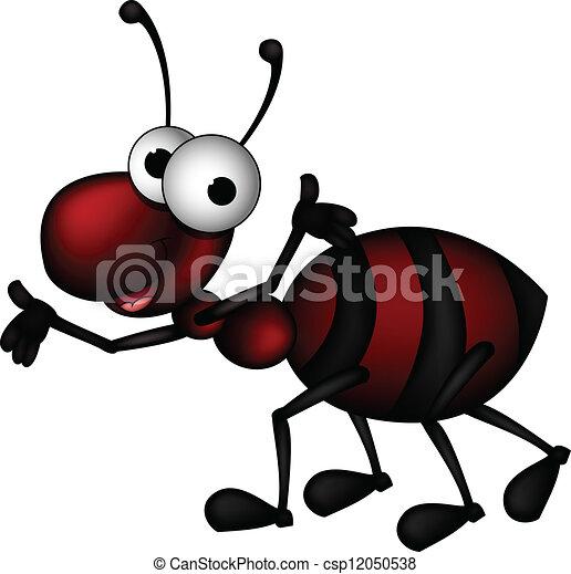 formica, cartone animato, rosso - csp12050538