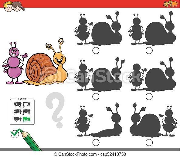 formica, educativo, uggia, gioco, lumaca - csp52410750