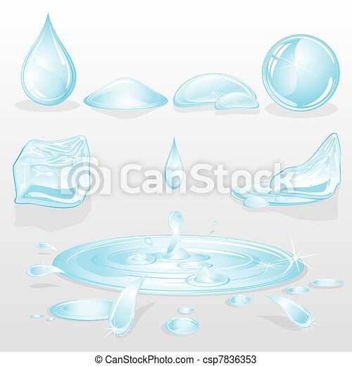 Forms of Water - csp7836353