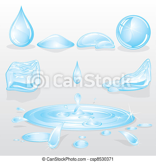 Forms of Water - csp8530371