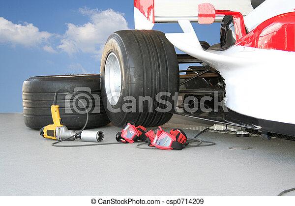 Formula - 1 Pit stop team tools - csp0714209
