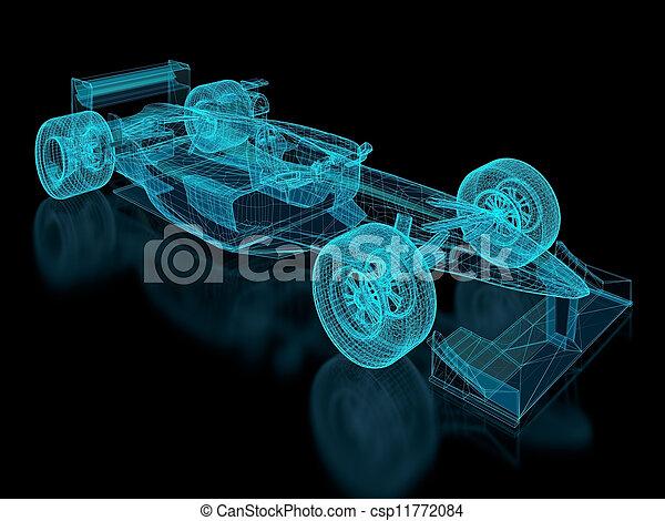 Formula One Mesh - csp11772084