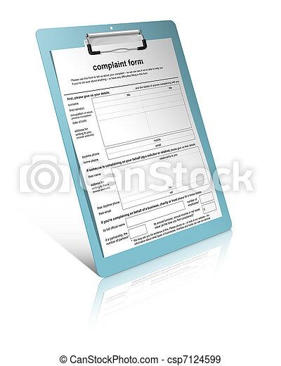 formulaire, plainte - csp7124599