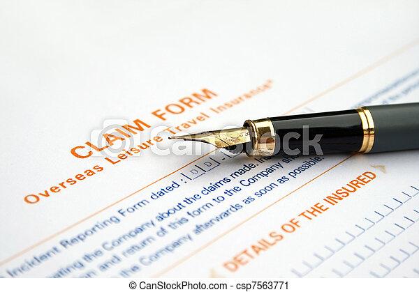 formulaire, réclamation - csp7563771