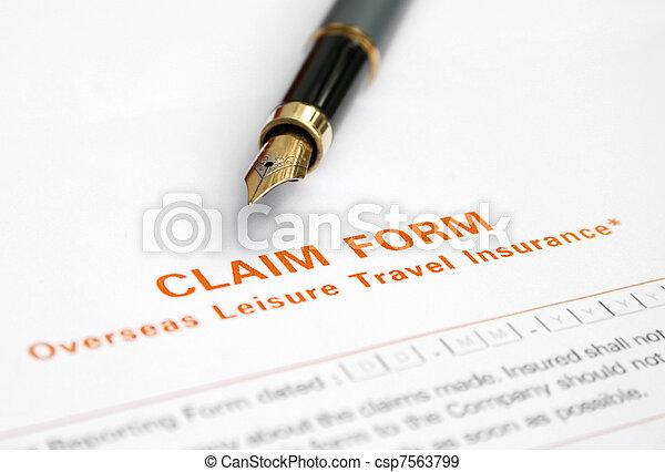 formulaire, réclamation - csp7563799