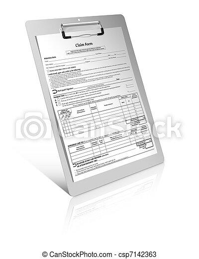 formulaire, réclamation - csp7142363