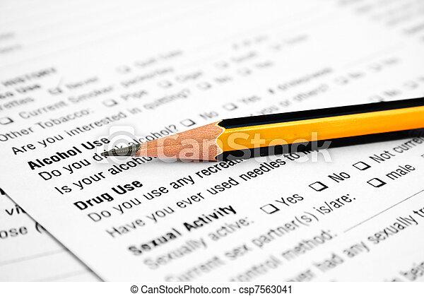 formulaire, santé - csp7563041