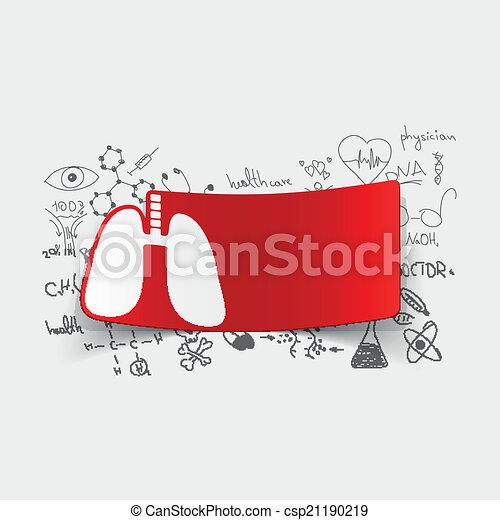 formulas:, médico, pulmão, desenho - csp21190219