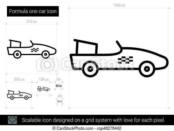 formule, ligne, une, icon., voiture - csp48278442