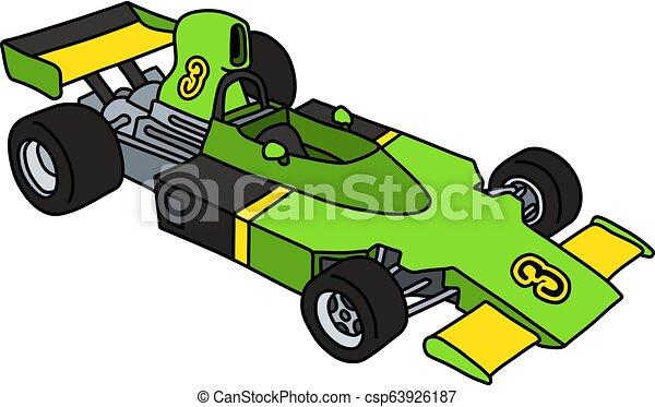 formule, voiture verte - csp63926187