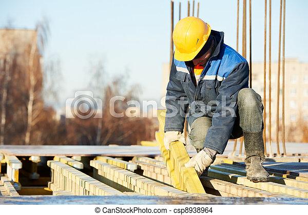 formwork, ouvrier construction, préparer - csp8938964