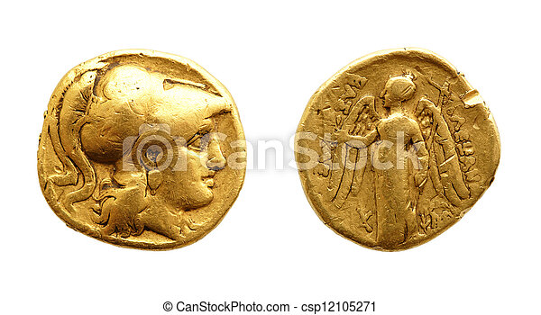 forntida, guldmynt - csp12105271