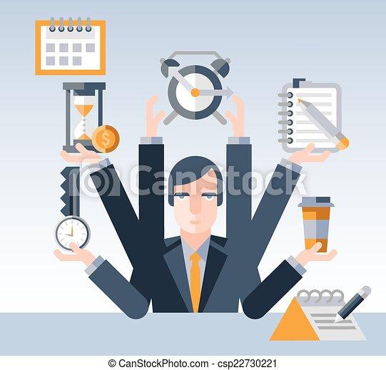 forretningsmand, ledelse, tid - csp22730221