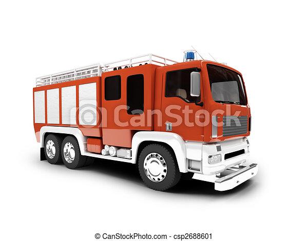 forside, firetruck, isoleret, udsigter - csp2688601