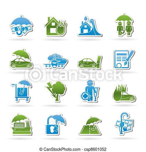 forsikring, risiko, iconerne - csp8601052