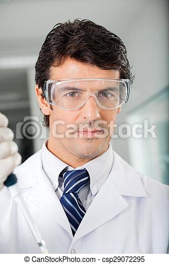forskare, tillitsfull, skyddande eyewear - csp29072295