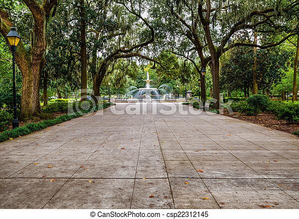 forsyth, 公园, savannah, ga - csp22312145