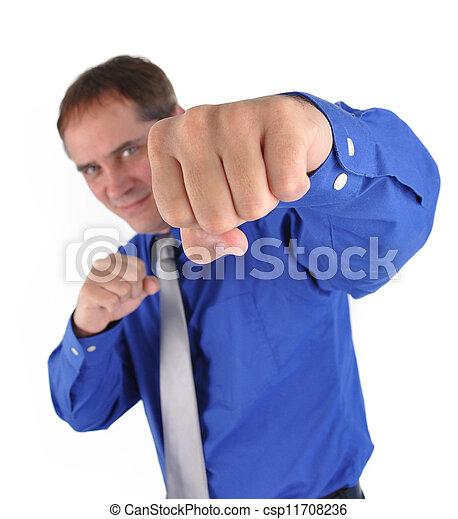 fort, combat, homme affaires - csp11708236
