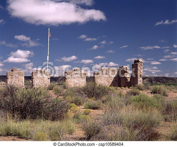 Fort Craig, Officer's Quarters - csp10589404
