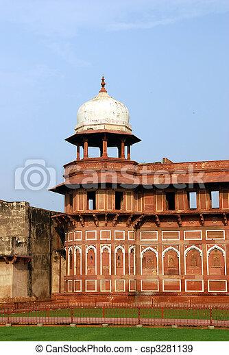 fort, inde, architecture, agra - csp3281139
