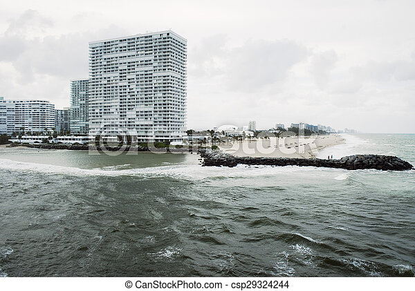 Fort Lauderdale Beach Ocean view - csp29324244
