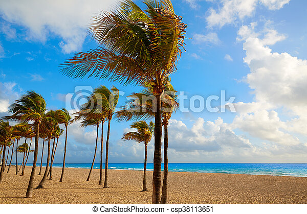 Fort Lauderdale beach sunrise Florida US - csp38113651