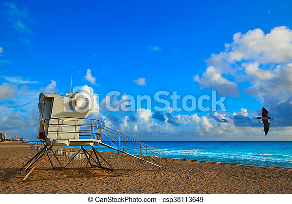 Fort Lauderdale beach sunrise Florida US - csp38113649