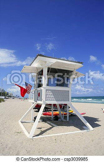 Fort Lauderdale Florida lifeguard beach house - csp3039985